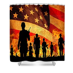 Courage Under Fire Shower Curtain