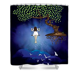 Dreamscape Shower Curtain by Serena King