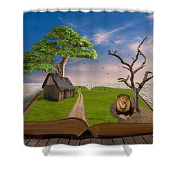 Shower Curtain featuring the mixed media Courageous by Marvin Blaine