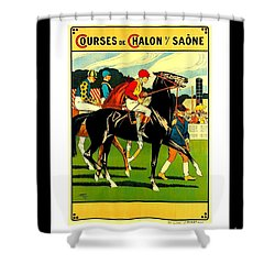 Courses De Chalon French Horse Racing 1911 II Leon Gambey Shower Curtain