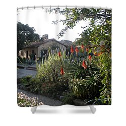 Court Yard At Mission Carmel Shower Curtain