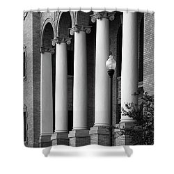 Shower Curtain featuring the photograph Courthouse Columns by Richard Rizzo