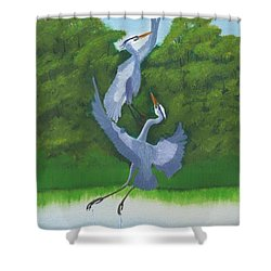 Courtship Dance Shower Curtain