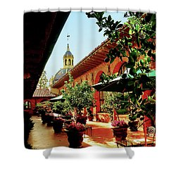 Courtyard At The Inn Shower Curtain