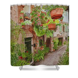 Courtyard Shower Curtain by C Wilton Simmons Jr