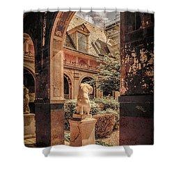 Paris, France - Courtyard East - L'ecole Des Beaux-arts Shower Curtain