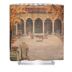 Courtyard Of Stravopoleos Church Shower Curtain
