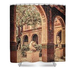 Paris, France - Courtyard West - L'ecole Des Beaux-arts Shower Curtain