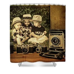 Cousins And Cameras Shower Curtain