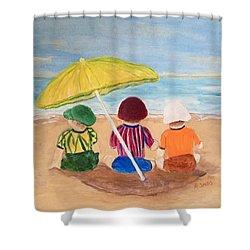 Cousins At The Beach Shower Curtain