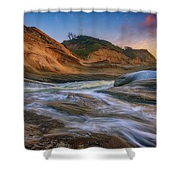 Cove At Cape Kiwanda, Oregon Shower Curtain