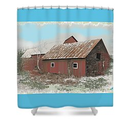 Coventry Barn Shower Curtain by John Selmer Sr