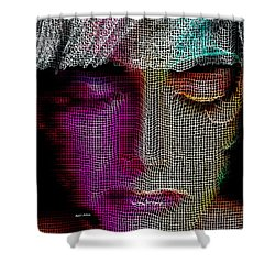 Shower Curtain featuring the digital art Cover Up by Rafael Salazar