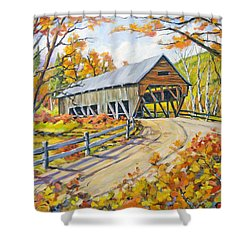 Covered  Bridge 2 Shower Curtain by Richard T Pranke