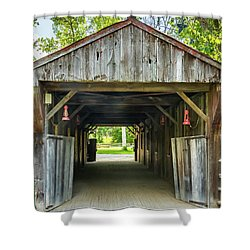 Covered Bridge Hdr Shower Curtain
