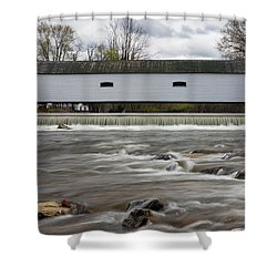 Covered Bridge In March Shower Curtain