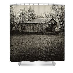 Covered Bridge In Upstate New York Shower Curtain by Bill Cannon