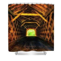 Covered Bridge Interior Shower Curtain
