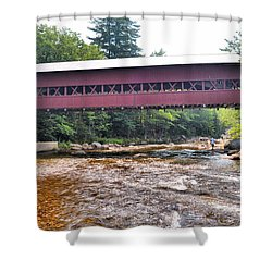 Covered Bridge Over The Swift River Shower Curtain