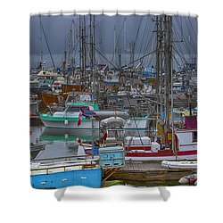 Cow Bay Commercial Fishing Boats Shower Curtain