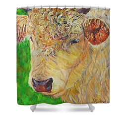 Cute And Curly Cow Shower Curtain