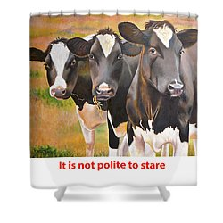 Cow Holstein Trio Shower Curtain