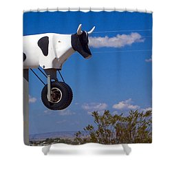 Cow Power Shower Curtain by Skip Hunt