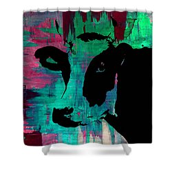 Cow Sunset Rainbow - Poster Print Shower Curtain