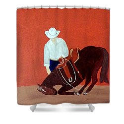 Cowboy And His Horse Shower Curtain