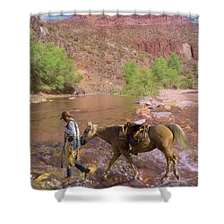 Cowboy And Horse Shower Curtain