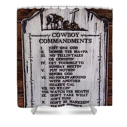 Cowboy Commandments Shower Curtain