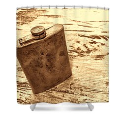 Cowboy Energy Drink Shower Curtain by American West Legend By Olivier Le Queinec