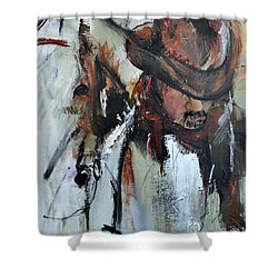 Shower Curtain featuring the painting Cowboy II by Cher Devereaux
