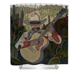 Cowboy In The Cactus Shower Curtain