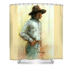 Cowboy In Thought Shower Curtain