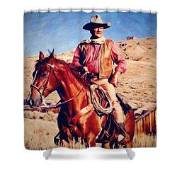 Cowboy John Wayne Shower Curtain