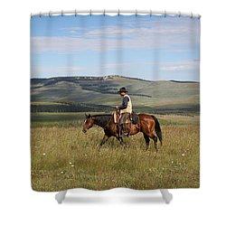 Cowboy Landscapes Shower Curtain