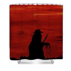 Cowboy Shower Curtain by Robert Marquiss