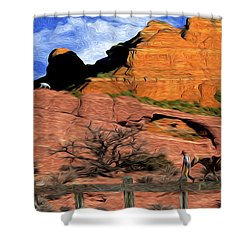 Cowboy Sedona Ver 4 Shower Curtain