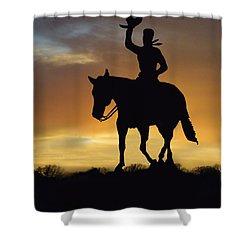 Cowboy Slilouette Shower Curtain