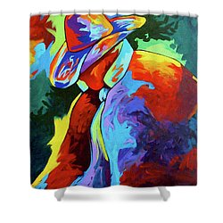 Cowboy Who Shower Curtain by Lance Headlee