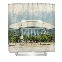 Cowboys Stadium Shower Curtain by Ricky Barnard