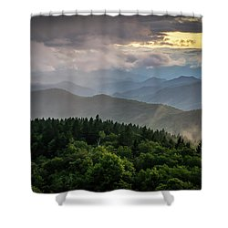 Cowee Mountain Sunset Shower Curtain