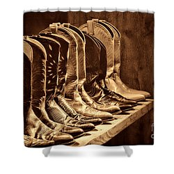 Cowgirl Boots Collection Shower Curtain by American West Legend By Olivier Le Queinec