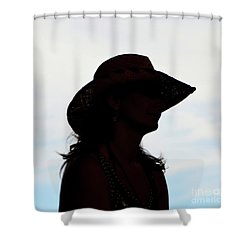 Cowgirl In The Sky Shower Curtain