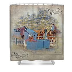 Cowgirl Spa 5p Of 6 Shower Curtain