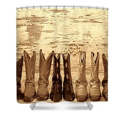 Cowgirls Night Out Shower Curtain by American West Legend By Olivier Le Queinec