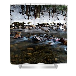 Coxing Kill In December #1 Shower Curtain by Jeff Severson