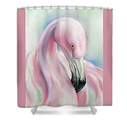 Coy Flamingo Shower Curtain