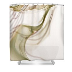 Coy Lady In Hat Swirls Shower Curtain